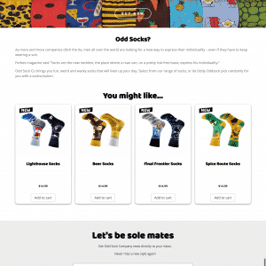 Odd Sock Co Home Page
