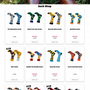 Odd Sock Co Sock Shop Page